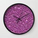 ALIEN DNA, pink Wall Clock