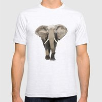 ELEPHANT: THE GREY GRAZE… Mens Fitted Tee Ash Grey SMALL