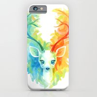 feather iPhone & iPod Cases featuring Feather Fawn by Freeminds