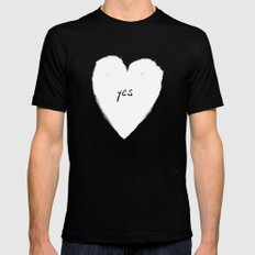 yes! Mens Fitted Tee Black SMALL