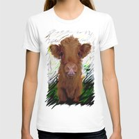 cow T-shirts featuring cow by Vector Art