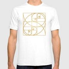 Golden Waves Mens Fitted Tee SMALL White
