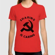 Sharing Is Caring Womens Fitted Tee Red X-LARGE