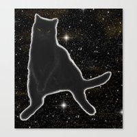 Kiki Kitty Cat in Outer Space Canvas Print