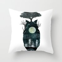 March Of The Forest Spir… Throw Pillow