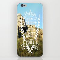 Great artists are the wisest fools iPhone & iPod Skin