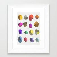 Painted Pebbles 2 Framed Art Print