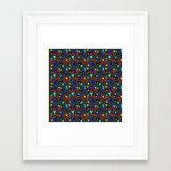 Colored Triangles Framed Art Print