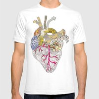My Heart Is Real Mens Fitted Tee White SMALL
