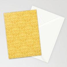 Cloud Factory Damask - Polished Brass Stationery Cards