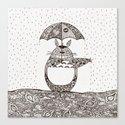 Happy Totoro Canvas Print