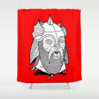Warrior's Decapitated Head Shower Curtain