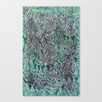 Snow Pines (Green) Canvas Print