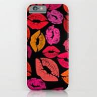 iPhone & iPod Case featuring Lipstick Kiss by Sebos