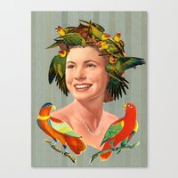 Bird's Nest Hair Canvas Print