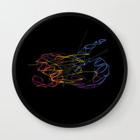 S6 Light-Painted Wall Clock