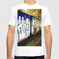Passing By Mens Fitted Tee White SMALL