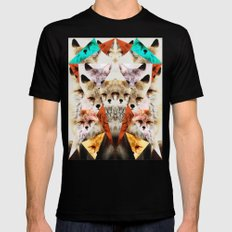 WHAT THE FOX SAY SMALL Mens Fitted Tee Black