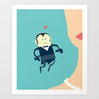 The Vampire Love Art Print
