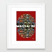 MASSACRE Framed Art Print