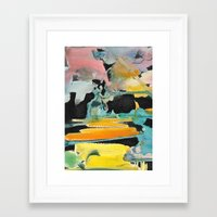 Abstract Watercolour Framed Art Print