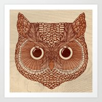 Owlustrations 2 Art Print