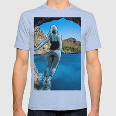 Leap Of Faith Mens Fitted Tee Athletic Blue SMALL