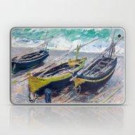 Three Fishing Boats By C… Laptop & iPad Skin