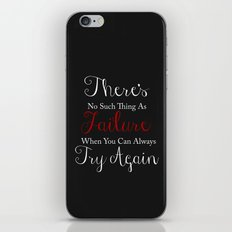 No Such Thing As Failure iPhone & iPod Skin