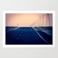 Lost Highway Art Print