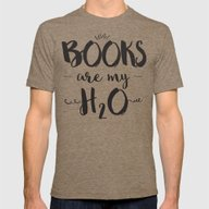 Books Are My H2O Typogra… Mens Fitted Tee Tri-Coffee SMALL