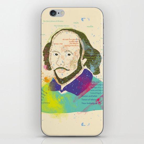 Portrait of William Shakespeare-Hand drawn iPhone & iPod Skin