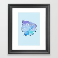 The Fault In Our Stars Framed Art Print