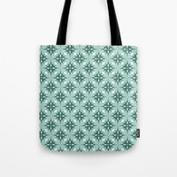 Watercolor Green Tile 2 Tote Bag