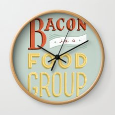 Bacon is a Food Group Wall Clock