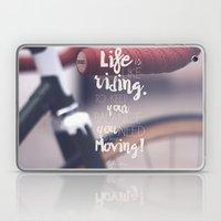 Einstein Quote on life motivation, balance, moving on, going on, inspiration Laptop & iPad Skin