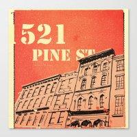 Pine St Canvas Print