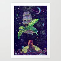 Sobaloopsian Turtleship Art Print