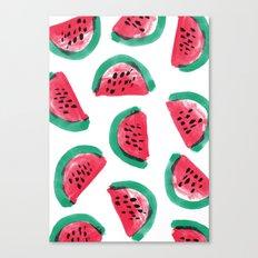 Painted Watermelon Pattern Canvas Print