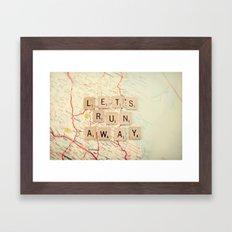 let's run away Framed Art Print