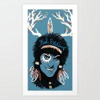 Blue Diamonds Art Print