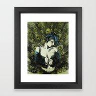 Black Pea Framed Art Print