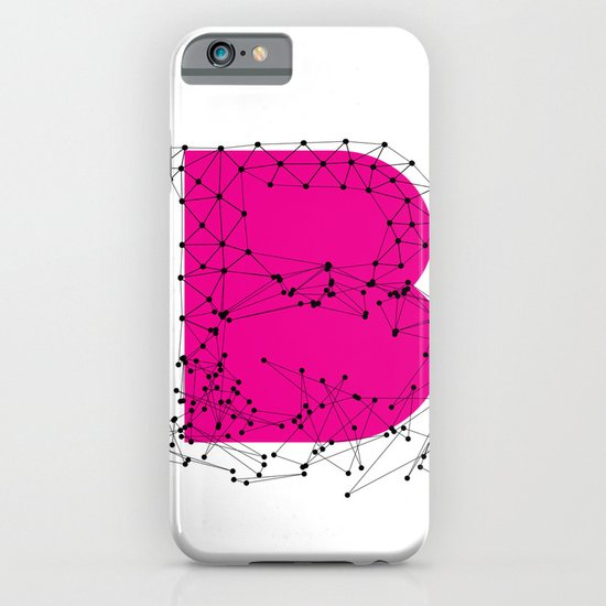 B (abstract geometrical type) iPhone & iPod Case