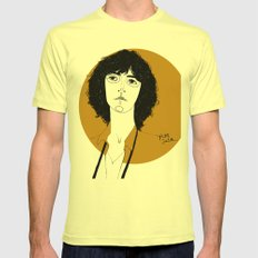 Patti Smith Mens Fitted Tee Lemon SMALL