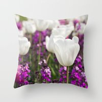 The delicate life Throw Pillow