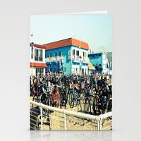 Bicycle Parking Lot Stationery Cards