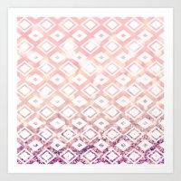 Diamond Blush Art Print