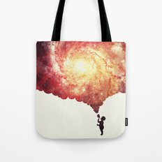 The universe in a soap-bubble! (Awesome Space / Nebula / Galaxy Negative Space Artwork) Tote Bag