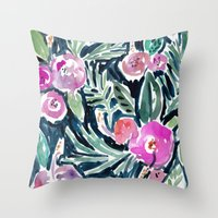 Nighttime In The Jungle Throw Pillow