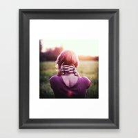 September Sun Framed Art Print
